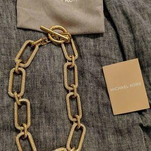 Gold Michael kors chunky chain